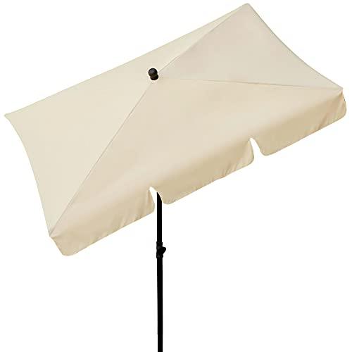 AKTIVE–Ombrellone da Balcone Rettangolare 200x 120cm/Colore: Beige, 85090