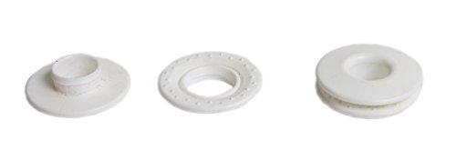 GARDINGER 10er-Pack Schlagösen Kunststoff weiß für Sonnensegel (Ösen Ringösen)