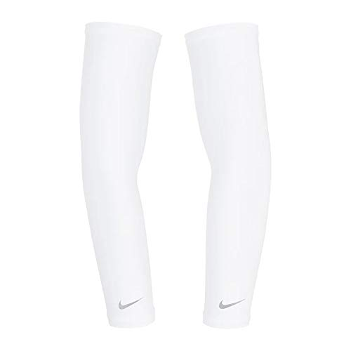Nike Lightweight Running Sleeve, weiß/Silber, S-M
