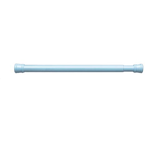 NgFTG Ajustable Personalizable Barra De Cortina para Bañera Ducha Puerta,Extensible Sin Perforación Barra De Tensión para Cortina De Ducha Azul 60-100cm (24-39inch)