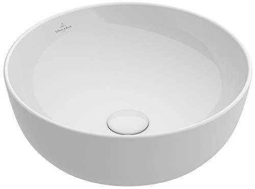 Villeroy & Boch ARTIS Aufsatzwaschtisch 430 mm, rund, ohne Überlauf weiß ceramicplus