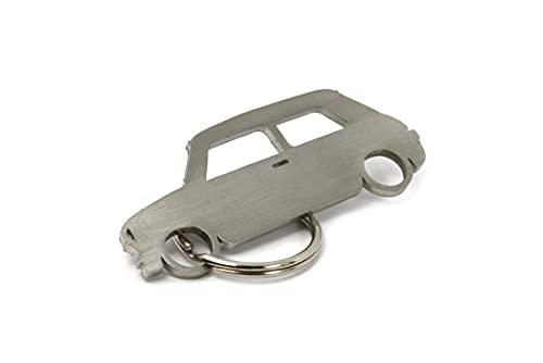 Streetculture CarShape Llavero de acero inoxidable – Auto Tuning Keychain Key Fob – Compatible con Mini Cooper BMW
