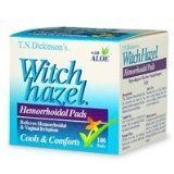 T.N. Dickinsons Witch Hazel Hemorrhoidal Pads with Aloe - 100 Ea by T.N. Dickinson