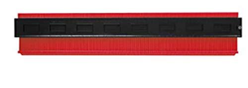 型取りゲージ コンターゲージ 測定ゲージ 不規則な測定器 輪郭ゲージ 曲線定規 DIY用測定工具 角度測定 多機能 カーペットの敷設 タイル取り付け 500mm 250mm 140mm 120mm (500mm(赤))