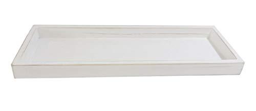 Dekotablett/Holztablett Weiss/Länge 35 cm / 1 Stück