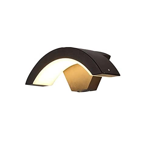 JJSCCMDZ lámpara de Pared 18W Moderno Sensor LED Lámpara de Pared al Aire Libre Impermeable Puerta Delantera Puerta de jardín Luz de Pared Moderna Luz de iluminación de Pared Interior