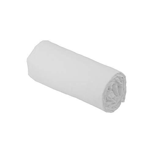 Drap House Percale 120x190 Bonnet 30 cm Blanc - Couleur: Blanc