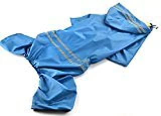 elegantstunning Waterproof Pet Dog Raincoat Pet Supplies,Blue 6XL