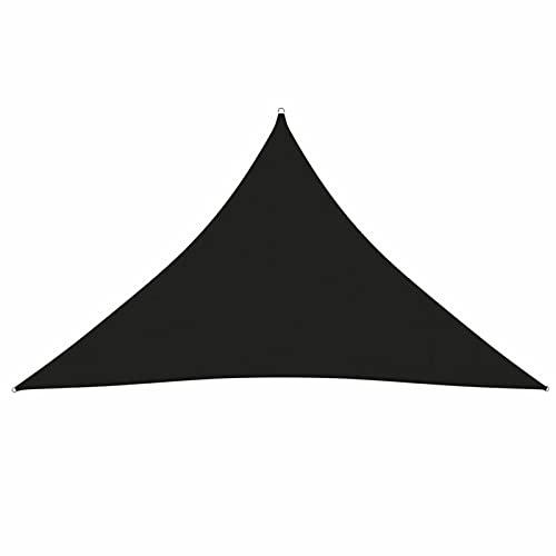 Tidyard Toldo de Vela de Sombra Triangular Patio Jardín Terraza Balcón Protección de Privacidad Impermeable Protección Solar y Viento Tela Oxford Negro 4x4x5,8 m