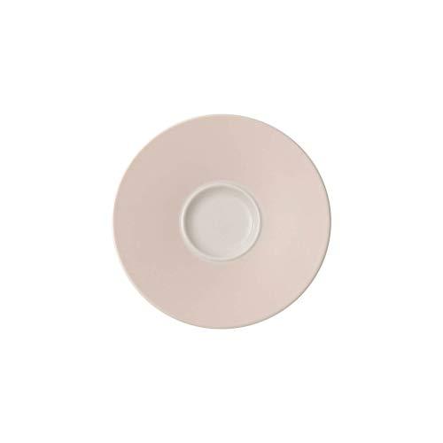Villeroy & Boch Caffè Club Uni Pearl Sous-tasse, 14 cm, Porcelaine Premium, Blanc/Rose