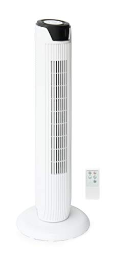 SPT SF-1536W: Tower Fan with Remote and Timer in White
