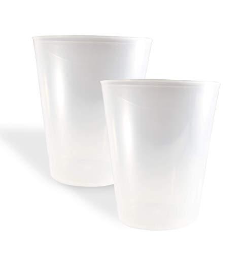 Vaso Sidra Plástico Reutilizable. Color Translúcido. Cantidad 75 Unids/Bolsa 25. Cap. 480ml - Vaso de plástico para Fiestas, cumpleaños, etc