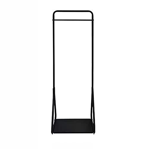XIAOXIAO Perchero Estilo Nórdico Perchero Salón Dormitorio Riel De Ropa Percha De Pie con Estante De Zapatos Soporte De Exhibición De Venta Al por Menor (Color : Black)