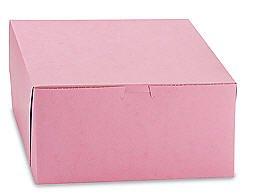 Cakesupplyshoppackaged 6pack 10x10x5 Pink Cake Box