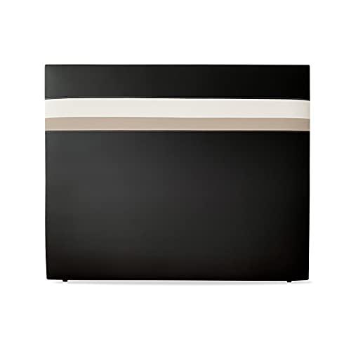 Duérmete Online 115 x 120 cm (para Cama de 105) Cabecero Premium Marsella | Tapizado en Polipiel de Alta Gama | Medidas, Madera, Negro