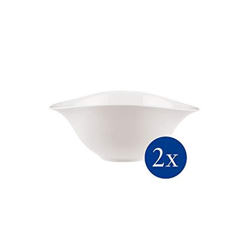 Villeroy & Boch - Vapiano Salatschalen-Set, 2 tlg., 800 ml, 21 x 17 cm, Premium Porzellan, spülmaschinen-, mikrowellengeeignet, weiß