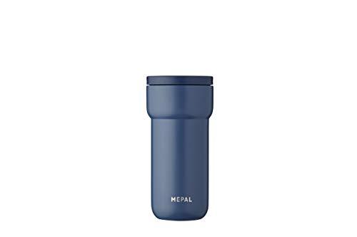 Mepal Ellipse 375 ml-Nordic Denim – Kaffee to go Thermobecher – teebecher-auslaufsicher – thermotasse Edelstahl – passt in nahezu alle Getränkehalter