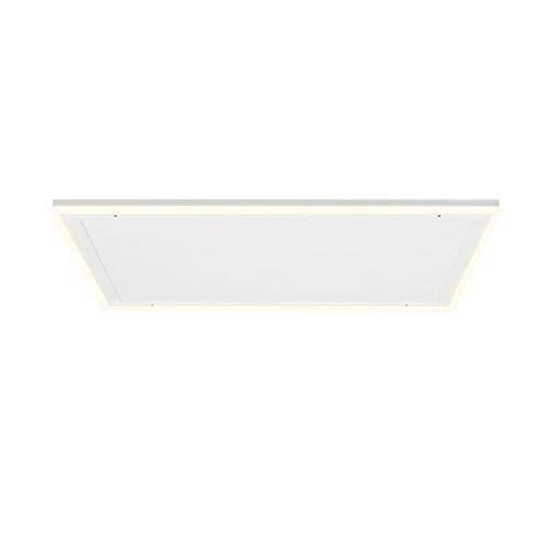 KLARSTEIN Midnight Sun - Pannello Radiante a Infrarossi da Soffitto, Luce LED Decorativa, Bianco Caldo & Bianco Freddo, Protezione da Surriscaldamento, Timer, 110,5x70,5 cm, 600 Watt, Bianco