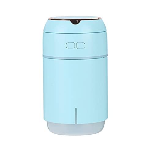 WDZJM Humidificador llenado luz romántica atmósfera Colorida Noche luz con Espejo de Maquillaje reposición de Agua portátil Vida útil de la batería (Color : Blue)