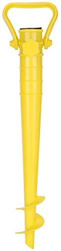 Sekey Sonnenschirmhalter Strand Oder Erde Grün mit Bodendübel für Sonnenschirm Stockmaß 42 cm (Gelb)