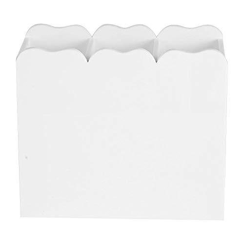 3 grilles diviseurs de bijoux organisateur de boîte en plastique transparent étui à perles contenant de stockage pour perles, bijoux, nail art, petits objets résultats d'artisanat(blanc)