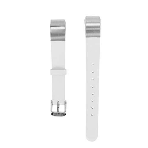 NICERIO kompatibel für Fitbit alta hr armbänder Leder Armband ersatz Leder verstellbare armbänder kompatibel für Fitbit alta hr (weiß)