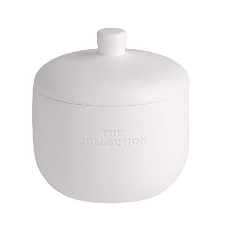WENKO Boîte universelle The Collection blanc - Boîte cosmétique, boîte à coton, Polyrésine, 11 x 11 x 11 cm, Blanc
