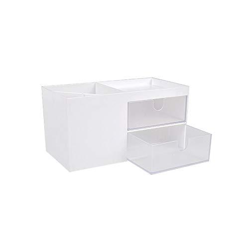Symeas Cajas de Escritorio Tipo Papelería Pensaje de bolígrafo Caja de Almacenamiento para residuos cosméticos Organizador de Escritorio en el hogar