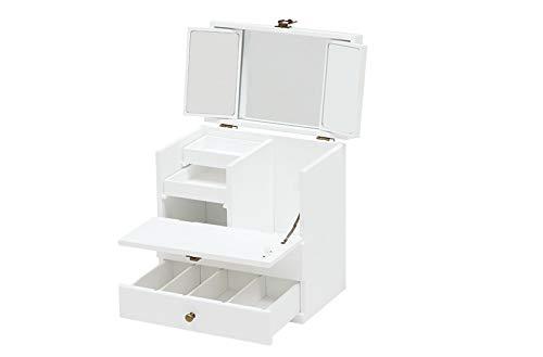 コスメボックス(ホワイト)MUD-6740WH