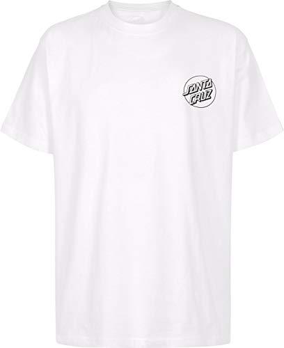Santa Cruz T-Shirt Screaming Skull Bianco (S, Bianco)