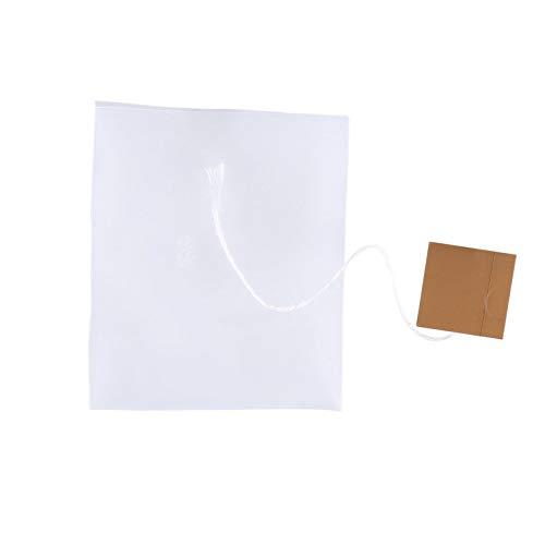 CNmuca 50 unidades de papel não tecido vazio empate cordão saquinhos de chá com selo de calor Filtro de ervas bolsa solta saquinho de chá branco 2# 5.8x7cm