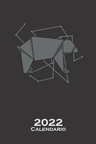 Oso de origami en forma de papel Calendario 2022: Calendario anual para Abanicos japoneses de papel plegado