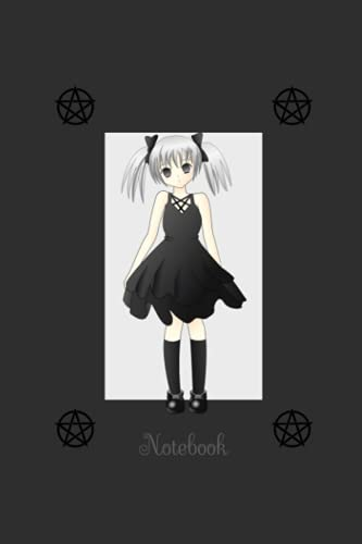 Pentacle Anime Girl Notebook: Lined Notebook for Journaling and Writing