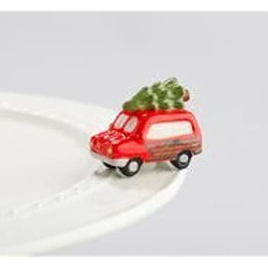 Nora Fleming Woody Van With Christmas Tree Mini - Just Like The Griswold's - Hand-Painted Ceramic Charm - A147