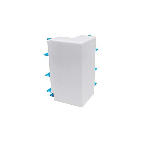 Habengut - Esquina Exterior para rodapié de PVC Color Blanco Contenido: 1 Pieza - para muros en Habitaciones