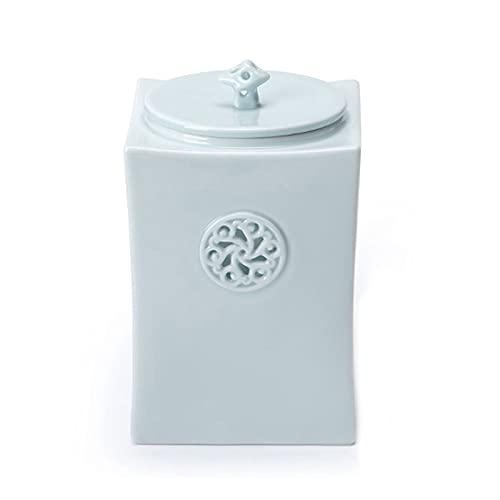 Vorratsdosen Keramik, Kaffeedose Frischhaltedose mit Luftdicht Deckel, Vorratsdose Vorratsgläser Kaffeebehälter Teedosen Küche Aufbewahrungsbox für Tee Kaffee Bohne Zucker Gewürz Nüsse, 1l, blau