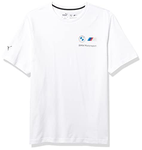 PUMA Men's Standard BMW MMS Essentials Small Logo Tee, White, XX-Large