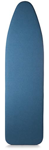 TIVIT Ironing Board Cover 18 x 49, Performance Grade Titanium Coated Pro Grip Pad & Covers - Superior Scorch & Stain Resistance, High Heat Reflection, 3 Padded Layers 3 Fastener Straps - Made In Italy