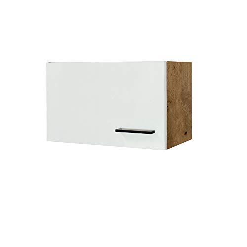 MMR Küchen-Kurzhängeschrank GLASGOW - Küchenschrank - Hängeschrank - 1-türig - 60 cm breit, 32 cm hoch - Creme Matt