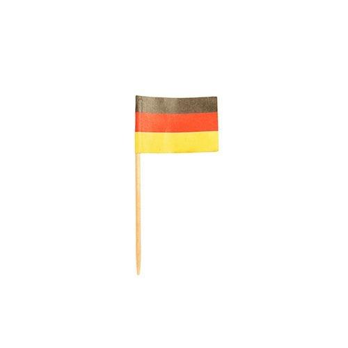 """Flaggenpicker / Deko-Picker """"DEUTSCHLAND"""" (8 cm - 200 Stück)"""