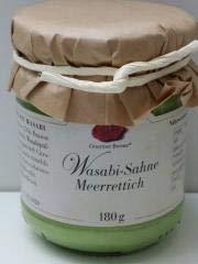 Gourmet Berner Wasabi Sahne Meerettich 180 g Glas / Grundpreis 3,58 € pro 100 ml.
