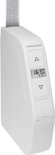 Rademacher 1493048 RolloTron Schwenkwickler Comfort Minigurt 1540-UW, für 15 mm Gurtband, elektrischer Gurtwickler Aufputz mit Display & Komfort-Funktionen, Weiß