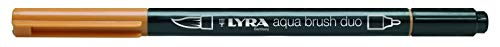 Lyra 6520083 - Rotulador acuarelable, doble punta, color ocre dorado