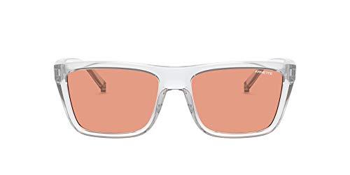 Arnette 0AN4262 Gafas, Vidrio Transparente/Naranja Espejo Rojo, 55 para Hombre