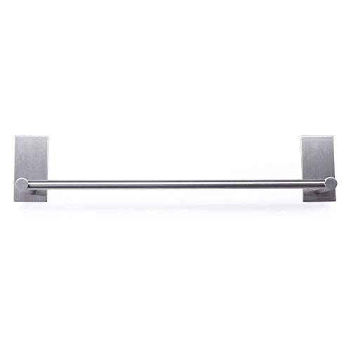 XIAJIA-Adhesivo Fuerte Toalleros de Barra 55cm, Cepillado,Acero inoxidable 304, 3M Adhesivo,impermeable completo (plata)