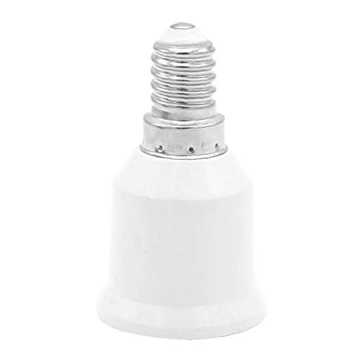 Convertitore socket, E14 a E27 Adattatore a LED LED Lampadine Smart Energy Saving Lampada Adattatore Adattatore Bianco