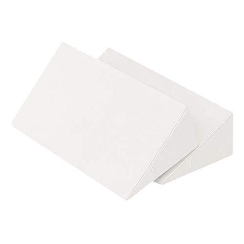 体位変換クッション 2個セット 日本製 綿100% 洗濯可能 床ずれ防止クッション 三角クッション 床ずれ クッション 体位変換 クッション 枕 体位変換枕 三角まくら 床ずれ予防 リハビリ 介護用クッション 7-TB-77-69-F (白)