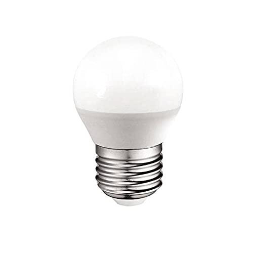 Bombilla LED esférica 6W (equivalente a 40W) Luz neutra (4000K) no dimmable. E27. 470 Lm. 25000 horas de vida. Encendido ultrarrapido (encendido al 100 % en 0,5 sg).