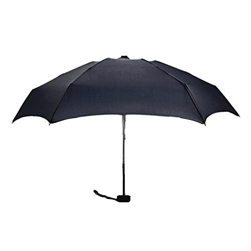 MJJCY Mini Paraguas de Viaje de Cinco Plegables con Estuche 6 Costillas Pongee Fabric Protección UV Protección compacta portátil Viaje al Aire Libre Paraguas (Color : E)