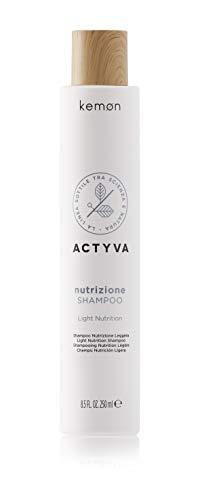 Kemon Actyva Nutrizione Shampoo - Feuchtigkeits-Shampoo für leicht trockenes Haar, optimale Haarpflege für mehr Geschmeidigkeit - 250 ml